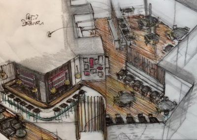 Avant projet grande salle de restaurant