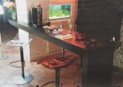 Bar plaqué chêne teinté ébène