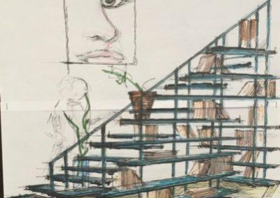 Escaliers bibiothèque