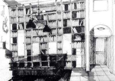 Bibliothèque toute hauteur