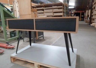 Bureau bois et métal