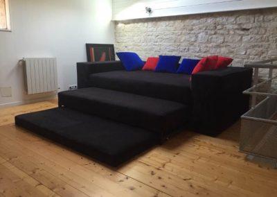 Canapé gigognes 3 couchages sur mesure 2