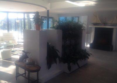 Claustras tv jardinière et mur d'eau