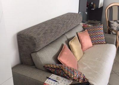Réhausse dossier en forme pour canapé lit slash