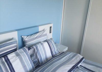 Tête de lit bayadère laqué