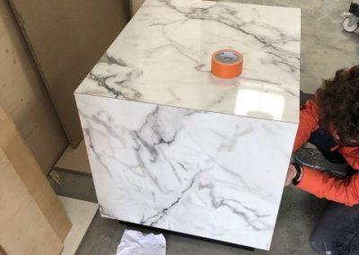 Fintion stratifie marbre de carrare chez MTA