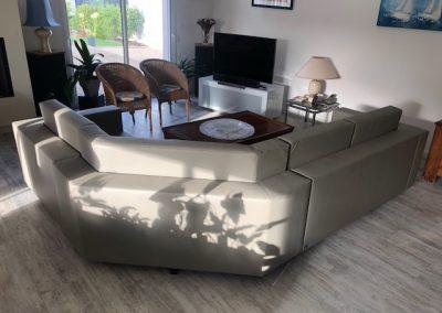 Canapé avec angle utile sur mesure Duprey§Patenotte